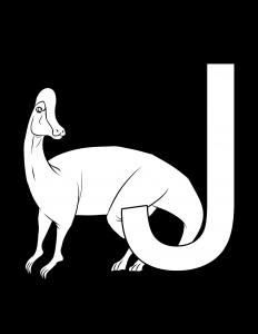Jaxartosaurus coloring page