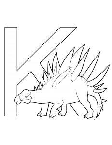 kentrosaurus coloring page