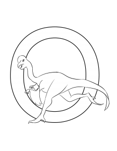 oviraptor coloring page