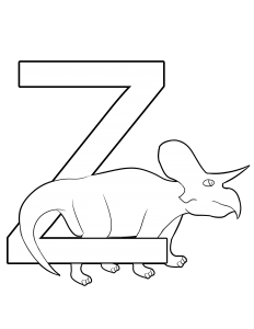 zuniceratops coloring page